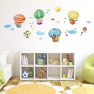 DECOWALL DA-1406B Montgolfières Animaux Autocollants Muraux Mural Stickers Chambre Enfants Bébé Garderie Salon de la marque Decowall image 0 produit