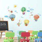 DECOWALL DA-1406B Montgolfières Animaux Autocollants Muraux Mural Stickers Chambre Enfants Bébé Garderie Salon de la marque Decowall image 2 produit
