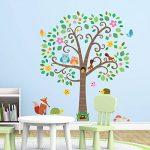 Decowall DA-1502N Grand Arbre Fantaisie et Animaux Autocollants Muraux Mural Stickers Chambre Enfants Bébé Garderie Salon de la marque Decowall image 1 produit