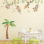 Decowall DA-1507 Singes sur Vigne Autocollants Muraux Mural Stickers Chambre Enfants Bébé Garderie Salon de la marque Decowall image 3 produit