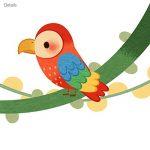 Decowall DA-1507 Singes sur Vigne Autocollants Muraux Mural Stickers Chambre Enfants Bébé Garderie Salon de la marque Decowall image 4 produit