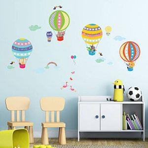 Decowall DA-1710B Montgolfière Animaux Autocollants Muraux Mural Stickers Chambre Enfants Bébé Garderie Salon de la marque Decowall image 0 produit