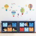 Decowall DA-1710B Montgolfière Animaux Autocollants Muraux Mural Stickers Chambre Enfants Bébé Garderie Salon de la marque Decowall image 1 produit