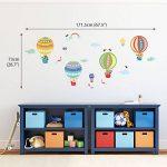 Decowall DA-1710B Montgolfière Animaux Autocollants Muraux Mural Stickers Chambre Enfants Bébé Garderie Salon de la marque Decowall image 2 produit