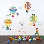 Decowall DA-1710B Montgolfière Animaux Autocollants Muraux Mural Stickers Chambre Enfants Bébé Garderie Salon de la marque Decowall image 4 produit