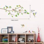 DECOWALL DA-1804 Oiseaux de Jardin sur la Branche D'arbre Animaux Autocollants Muraux Mural Stickers Chambre Enfants Bébé Garderie Salon de la marque Decowall image 1 produit