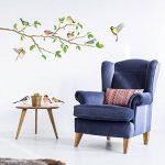 DECOWALL DA-1804 Oiseaux de Jardin sur la Branche D'arbre Animaux Autocollants Muraux Mural Stickers Chambre Enfants Bébé Garderie Salon de la marque Decowall image 2 produit