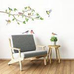 DECOWALL DA-1804 Oiseaux de Jardin sur la Branche D'arbre Animaux Autocollants Muraux Mural Stickers Chambre Enfants Bébé Garderie Salon de la marque Decowall image 4 produit
