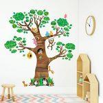 Decowall DL-1709 Arbre Géant Animaux Autocollants Muraux Mural Stickers Chambre Enfants Bébé Garderie Salon de la marque Decowall image 2 produit