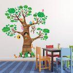 Decowall DL-1709 Arbre Géant Animaux Autocollants Muraux Mural Stickers Chambre Enfants Bébé Garderie Salon de la marque Decowall image 3 produit