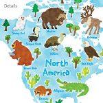 Decowall DLT-1615 Carte du monde Animaux Autocollants Muraux Mural Stickers Chambre Enfants Bébé Garderie Salon (Extra Grand) (Ver anglais) de la marque Decowall image 4 produit