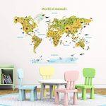 DECOWALL DLT-1816 Monde des animaux Autocollants Muraux Stickers Muraux Chambre Enfants Bébé Garderie Salon de la marque Decowall image 1 produit