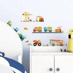 Decowall DS-8012 Site de Construction Voitures Autocollants Muraux Mural Stickers Chambre Enfants Bébé Garderie Salon (Petit) de la marque DECOWALL image 2 produit