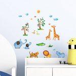 Decowall DS-8016 Animaux Jungle Sauvages Autocollants Muraux Mural Stickers Chambre Enfants Bébé Garderie Salon (Petit) de la marque Decowall image 1 produit