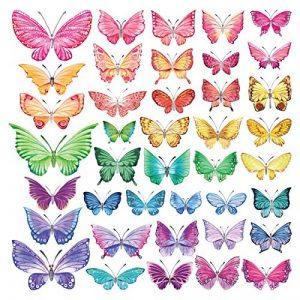 DECOWALL DS-8022 Papillons Aquarelles Autocollants Muraux Mural Stickers Chambre Enfants Bébé Garderie Salon (Petit) de la marque Decowall image 0 produit
