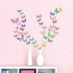 DECOWALL DS-8022 Papillons Aquarelles Autocollants Muraux Mural Stickers Chambre Enfants Bébé Garderie Salon (Petit) de la marque Decowall image 1 produit