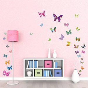 Decowall DW-1201 38 Papillons Colorés Autocollants Muraux Mural Stickers Chambre Enfants Bébé Garderie Salon de la marque Decowall image 0 produit