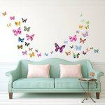 Decowall DW-1201 38 Papillons Colorés Autocollants Muraux Mural Stickers Chambre Enfants Bébé Garderie Salon de la marque Decowall image 1 produit