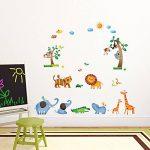 Decowall DW-1206 Animaux Sauvages de la Jungle Autocollants Muraux Mural Stickers Chambre Enfants Bébé Garderie Salon de la marque Decowall image 3 produit