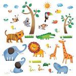 Decowall DW-1206 Animaux Sauvages de la Jungle Autocollants Muraux Mural Stickers Chambre Enfants Bébé Garderie Salon de la marque Decowall image 4 produit