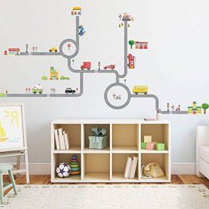 Decowall DW-1404S La Route & Les Voitures Autocollants Muraux Mural Stickers Chambre Enfants Bébé Garderie Salon (Moyen) de la marque Decowall image 0 produit