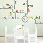 Decowall DW-1404S La Route & Les Voitures Autocollants Muraux Mural Stickers Chambre Enfants Bébé Garderie Salon (Moyen) de la marque Decowall image 1 produit