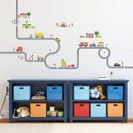 Decowall DW-1404S La Route & Les Voitures Autocollants Muraux Mural Stickers Chambre Enfants Bébé Garderie Salon (Moyen) de la marque Decowall image 2 produit