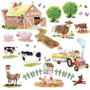 Decowall DW-1407 Poney Club & Animaux de Ferme Autocollants Muraux Mural Stickers Chambre Enfants Bébé Garderie Salon de la marque Decowall image 0 produit
