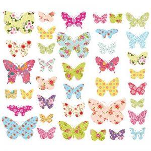 Decowall DW-1408 Motif Papillons Autocollants Muraux Mural Stickers Chambre Enfants Bébé Garderie Salon de la marque Decowall image 0 produit