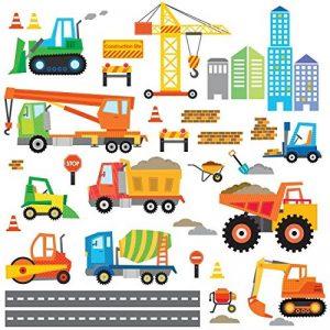Decowall DW-1612 Site de Construction Autocollants Muraux Mural Stickers Chambre Enfants Bébé Garderie Salon de la marque Decowall image 0 produit
