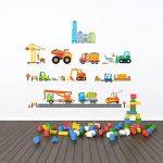 Decowall DW-1612 Site de Construction Autocollants Muraux Mural Stickers Chambre Enfants Bébé Garderie Salon de la marque Decowall image 2 produit