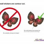 dekodino Sticker Mural A Papillons Aquarelle pour Filles dans Rose pièces Coller de la marque dekodino image 4 produit
