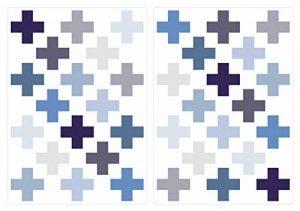 dekodino Sticker Mural kit Croix en Pastel Gris et Bleu Pastel pièces Signe Plus Coller de la marque dekodino image 0 produit