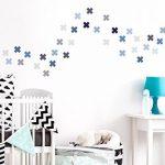 dekodino Sticker Mural kit Croix en Pastel Gris et Bleu Pastel pièces Signe Plus Coller de la marque dekodino image 1 produit