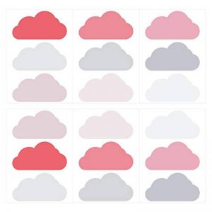 dekodino Sticker Mural kit Nuages Petite Fille Couleurs en Pastel pièces Ciel Nuageux co de la marque dekodino image 0 produit
