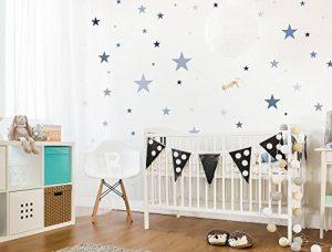 dekodino Sticker Mural kit étoiles dans Un délicat Pastel et Bleu Pastel Gris Ciel étoil de la marque dekodino image 0 produit