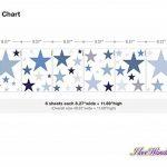 dekodino Sticker Mural kit étoiles dans Un délicat Pastel et Bleu Pastel Gris Ciel étoil de la marque dekodino image 1 produit
