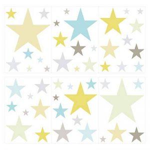 dekodino Sticker Mural étoiles dans Frais Couleurs Pastels pour Un Cadre élégant Ciel ét de la marque dekodino image 0 produit