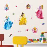Disney Princesse Stickers muraux 3D, en Vinyle, Multicolore de la marque Disney image 2 produit