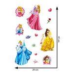 Disney Princesse Stickers muraux 3D, en Vinyle, Multicolore de la marque Disney image 3 produit