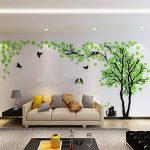 DIY 3D Énorme Arbre de couple Stickers Muraux Cristal Acrylique Décorations murales Autocollants Décoratifs Accueil Décorations Arts (S, Vert, Gauche) de la marque MJTP image 2 produit