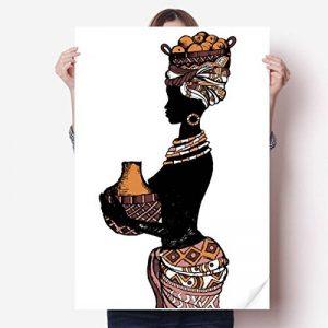 DIYthinker Mur Vinyle primitif d'Afrique Noire autochtone Sticker Mural Poster Wallpaper Chambre Decal 80X55Cm 80cm x 55cm Multicolor de la marque DIYthinker image 0 produit