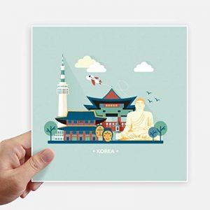 DIYthinker Sites touristiques à Séoul en Corée Autocollant carré de 20 cm Mur Valise pour Ordinateur Portable Motobike Decal 4Pcs 20cm x 20cm Multicolor de la marque DIYthinker image 0 produit