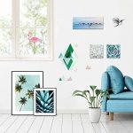 Draeger - Sticker Mural Géométrique - Sticker Scandinave pour décorer votre intérieur - Adhésif Déco en papier satiné épais 180g - L26 x H36 montagnes géométriques de la marque DRAEGER-PARIS-1886 image 1 produit