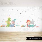 Dragon et chevalier lisant - Stickers muraux enfants - T0 Basic de la marque StarStick image 1 produit