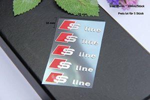 E336 5 pièce S Line Autocollants Badge emblème Ligne Autocollant de Voiture de Nickel 3D Nouveau de la marque carsemblème image 0 produit