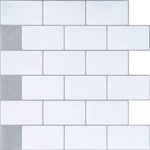 Ecoart 3D Autocollant Mural Imperméable Auto-adhésif en Forme de Brique la Salle de Bain la Cuisine Blanc de la marque Ecoart image 0 produit