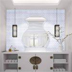 Ecoart 3D Autocollant Mural Imperméable Auto-adhésif en Forme de Brique la Salle de Bain la Cuisine Blanc de la marque Ecoart image 2 produit