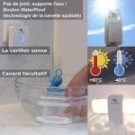 EcoDring - Sonnette Ecologique sans Fil sans Pile Extreme - Garantie 3 Ans, Max 120m, résistant à l'eau + Stickers pour nom + phosphorescents, Blanche, 25 mélodies, 1 Bouton + 1 Carillon de la marque EcoDring image 3 produit