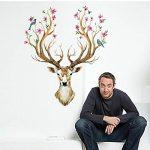 Eizur 3D PVC Cerf Sika Stickers Muraux Amovible Décoratifs Deer Autocollants Pour Chambre Restaurant Den Entrée Salon Room de la marque Eizur image 1 produit